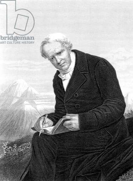 Baron Alexander Von Humboldt (1769-1859) German naturalist and explorer, engraving