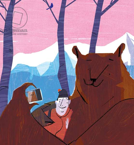 Bear Selfie, 2015, (mixed media)