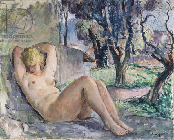 Nude Lying in a Garden, c.1934 (oil on canvas)