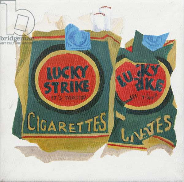 Green Lucky Strike packs (acrylic)