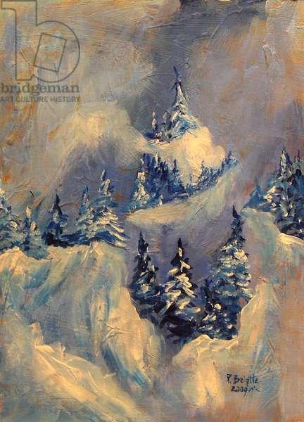 Big Horn Peak, 2009 (acrylic on wood)