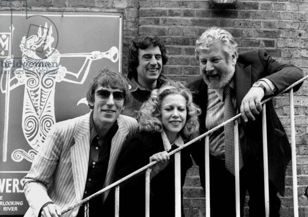 Peter Cook, Terry Jones, Connie Booth and Peter Ustinov, Mermaid Theatre, London 8th May 1977