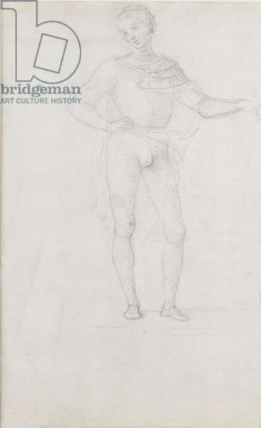Verso: A Study for a Figure in an Adoration of the Magi, WA1846.5 (black chalk)