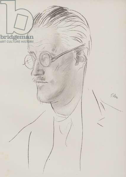 James Joyce, Irish novelist and poet (pencil)