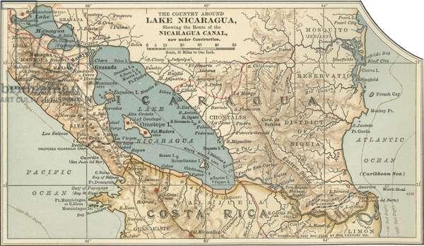 Map of Lake Nicaragua