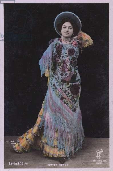Carolina Otero Spanish actress, singer and courtesan (coloured photo)