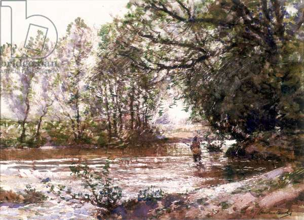 After the Storm, the Monnow at Monmouth (watercolour on board)