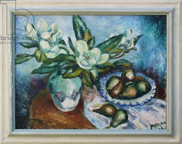 Magnolias, 1946 (oil on canvas)
