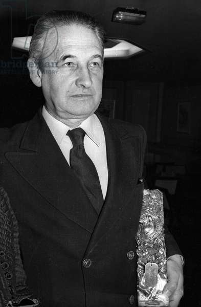 Andrzej Wajda, 1982 (b/w photo)