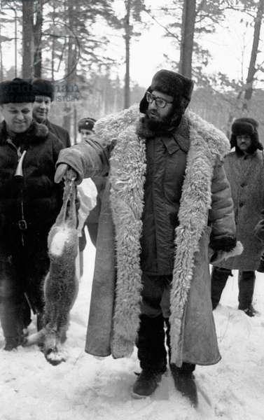 Fidel Castro During A Hunt