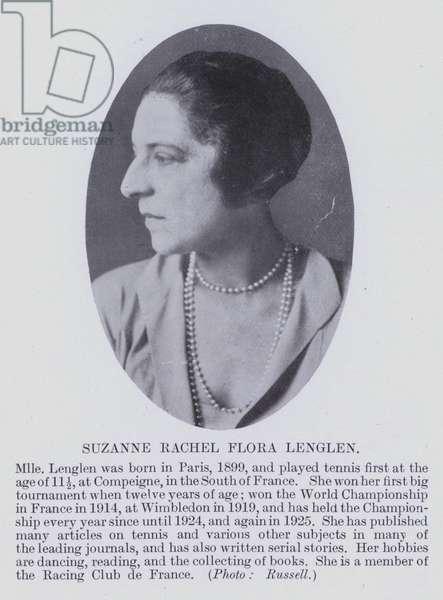 Suzanne Rachel Flora Lenglen (b/w photo)