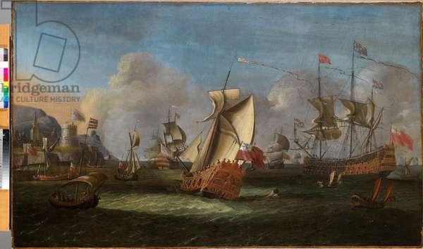 King William III off the Coast of Ireland, June 1690 (oil on canvas)