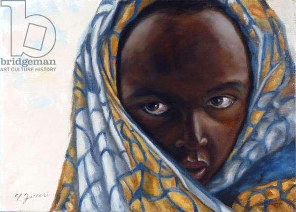Child of Rwanda, 2016, (oil on canvas)