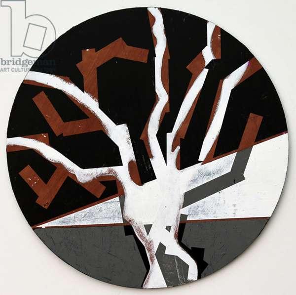 Twixt Heaven & Earth XII-B (acrylic on circular board)