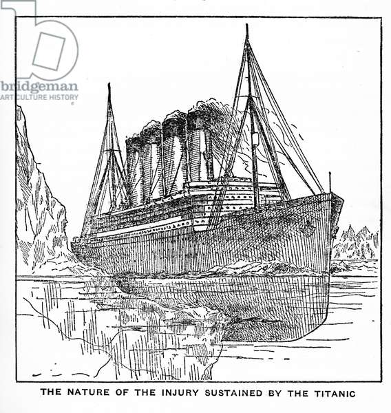Illustration from 'The sinking of the Titanic' by Logan Marshall