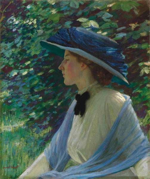 Portrait of Florence, c.1909-10 (oil on canvas)