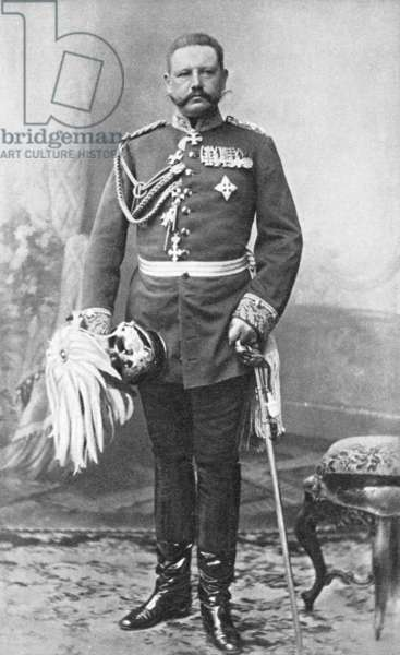 Paul von Hindenburg, Koblenz, 1897 (b/w photo)