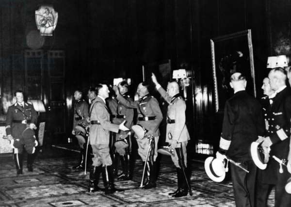 Honouring of the generals of the Poland campaign, 1939 (b/w photo)
