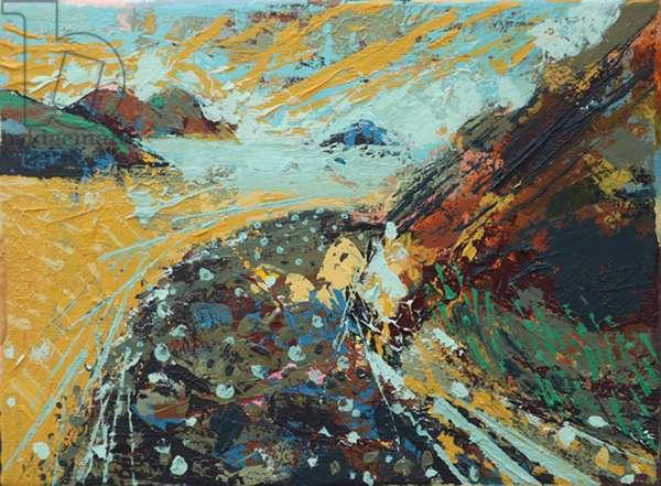 To the island (acrylic on canvas)