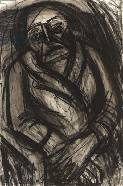 Portrait of NM Seedo, c.1957 (charcoal on paper)