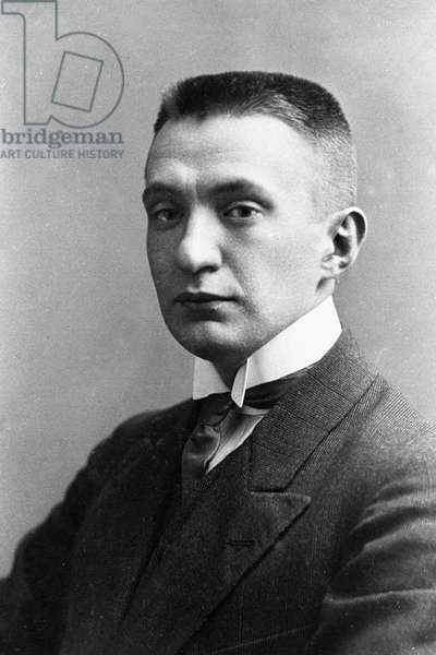 Russian statesman Alexander Kerensky, 13th September, 1907 (b/w photo)
