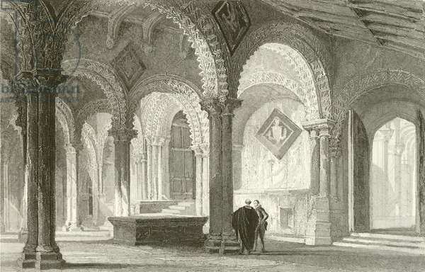 The Galilee, West End of Durham Cathedral (engraving)