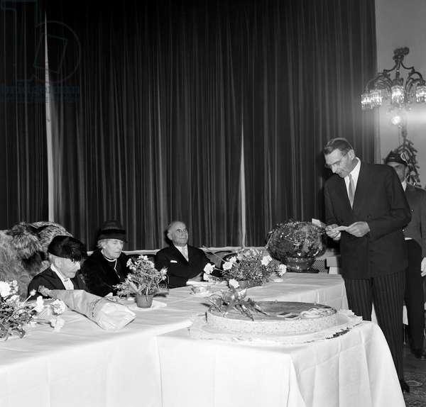 Switzerland Baronne Marie De Coubertin, 1961 (b/w photo)