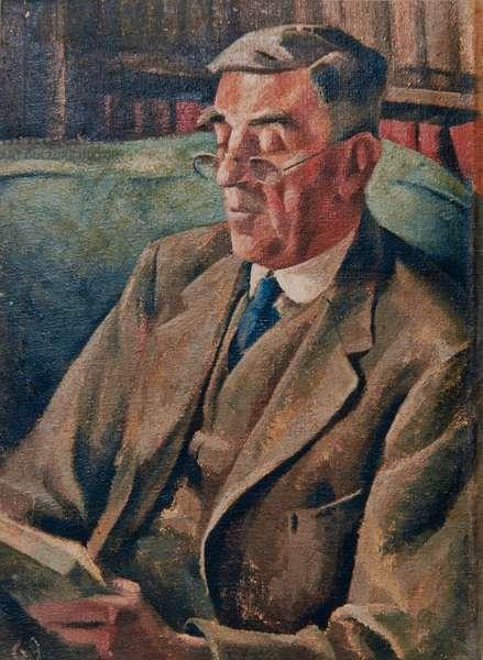 Joseph Manton (the Artist's Father), c.1938 (oil on canvas)