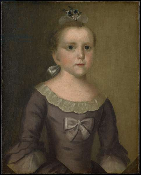 Portrait of Abigail Gowen, 1763 (oil on fabric)