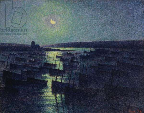 Camaret, Moonlight and Fishing Boats, 1894 (oil on canvas)