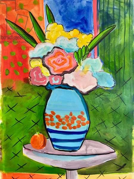Vase of flowers,2019 (acrylic)