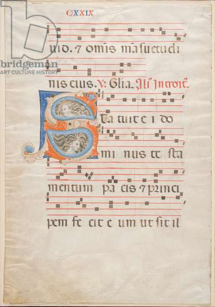 Double Leaf from a Gradual, c.1325 (ink, tempera & gold leaf on vellum)