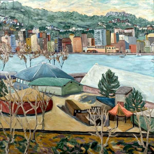 Oaks Winter View, 2019 (acrylic on canvas)