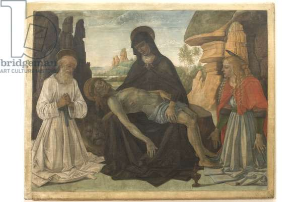 Christ in piety between Our Lady, Saint Jerome and Magdalene
