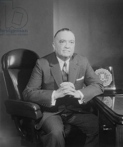 Portrait of FBI Director J. Edgar Hoover. c. 1960