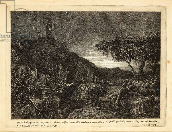 The Lonely Tower (etching)
