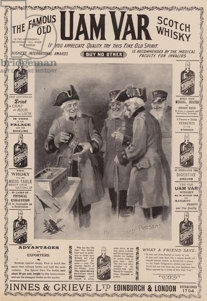 Advertisement, Uam Var Scotch Whisky (engraving)