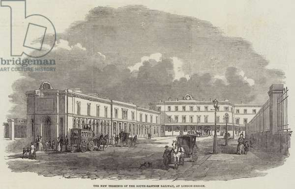 The New Terminus of the South-Eastern Railway, at London-Bridge (engraving)