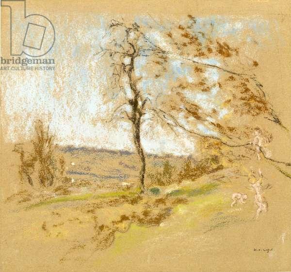 Landscape, c.1900 (pastel on paper)