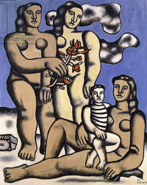 Three Women and a Child, 1952 (oil on canvas)