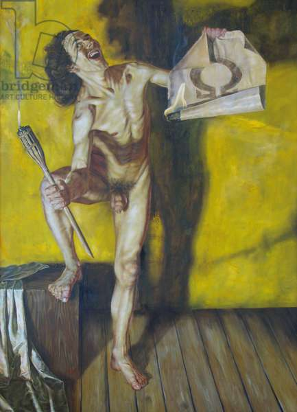 Diogenes, 1995 (oil on wood)