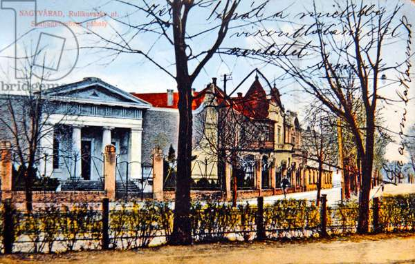 The Masonic Lodge in Oradea (Nagyvarad), Romania, 1913 (photolitho)