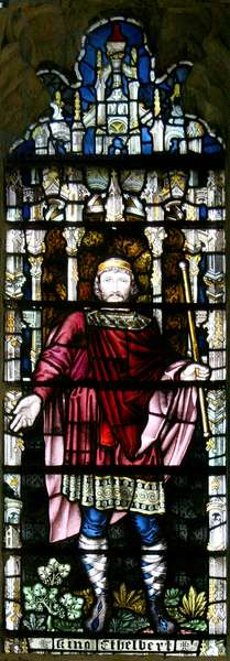 King Æthelberht, 1896 (stained glass)