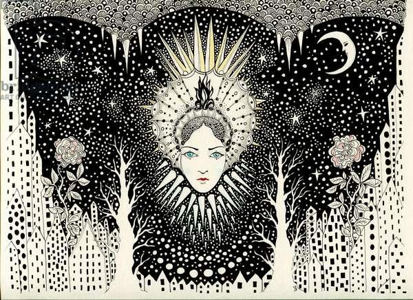 Snow Queen, 2015, (pen and ink)