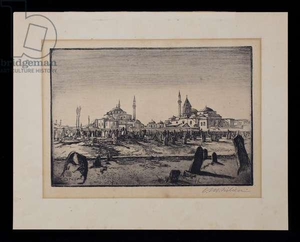 Konia, 1918 (etching, ink on paper)
