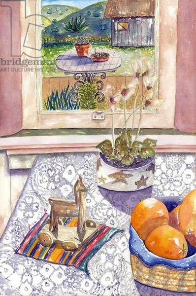Orange Still, 1995 (watercolor)