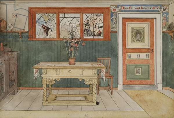 The Dining Room, from 'A Home' series, c.1895 (w/c on paper)