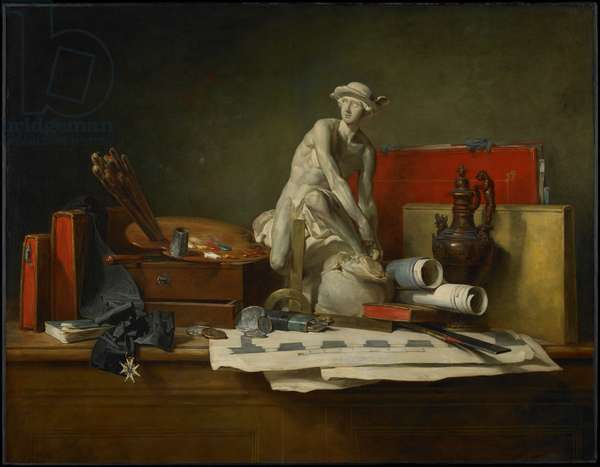 The Attributes of the Arts and the Rewards Which Are Accorded Them, 1766 (oil on canvas)