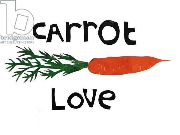 Carrot love,2019 (Ink monoprint)