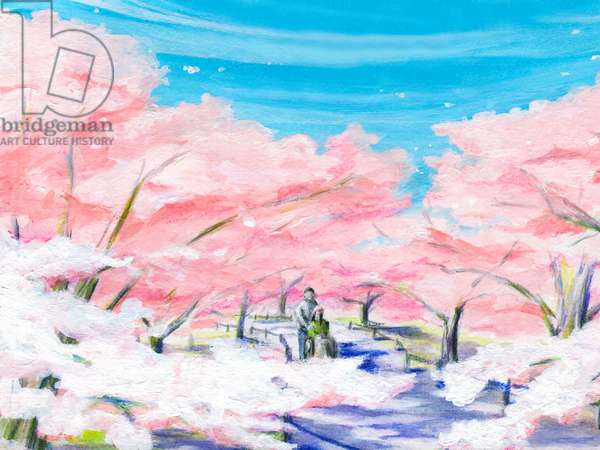 Cherry Blossoms,2015(Acrylic paint on paper)